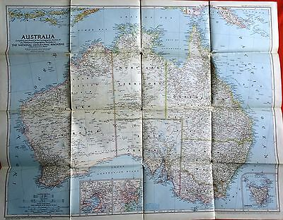 National Geographic Map 1948 Australia