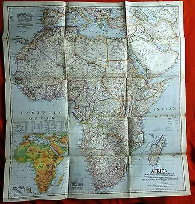 National Geographic Map 1950 Africa and the Arabian Peninsula