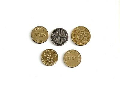 Lot Of Arcade And Game Tokens