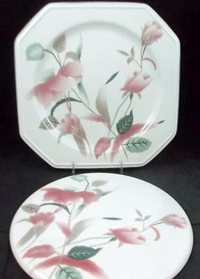 Mikasa SILK FLOWERS Chop Plate + Cake Plate F3003 GREAT CONDITION