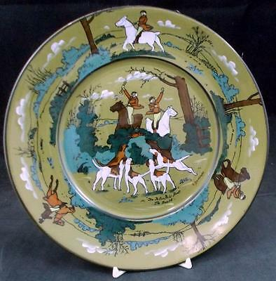 Buffalo Pottery FALLOWFIELD HUNT Salad Plate Vintage Piece GREAT CONDITION