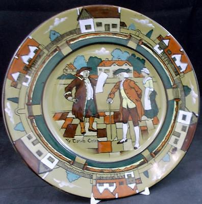 Buffalo Pottery YE OLDEN DAYS Salad Plate Vintage Piece GREAT VALUE small nick