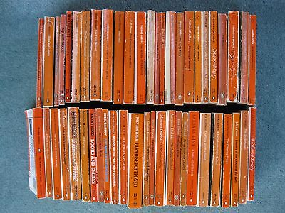 Huge Bundle x 50 various Penguin Orange paperback books mixed authors
