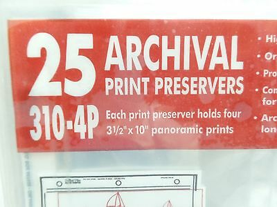 "Printfile Archival 35mm. print preservers - 3 1/2 x 10"" panoramic prints"