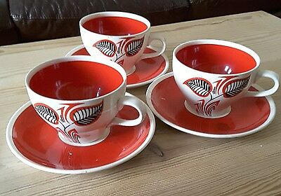 Wade Cups and Saucers, Retro, Vintage