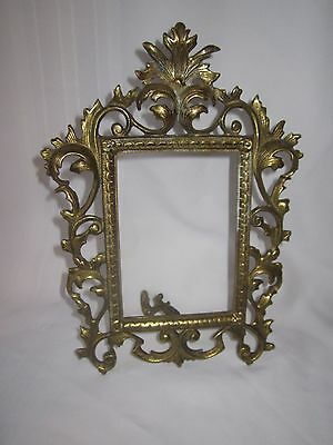 Antique ornate brass picture photo frame - Virginia Metalcrafters