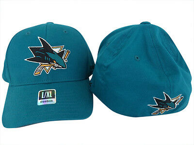 NHL San Jose Sharks FlexFit Ice Hockey Cap Hat