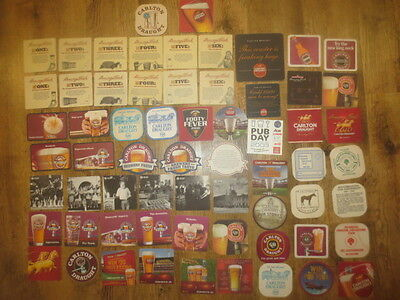 64 Different CARLTON DRAUGHT  Issued  BEER COASTERS