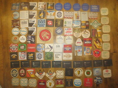 102 Different CARLTON BEERS Issued  BEER COASTERS