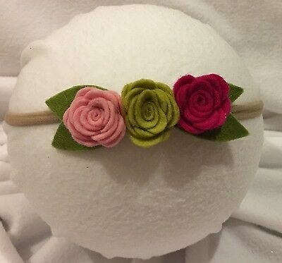 Felt Flower Headband - Newborn Infant Toddler Headband Baby Shower Gift
