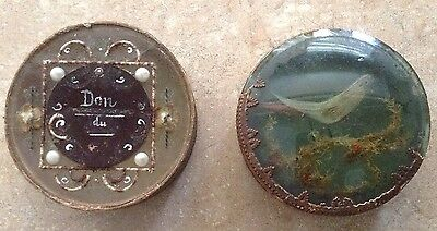 Two Antique French Dragee Boxes French Early 19th Century