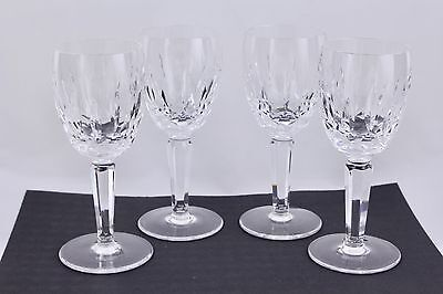 "Waterford Crystal Set Of 4 Kildare 5-7/8"" White Wine Glasses #2 - Mint"