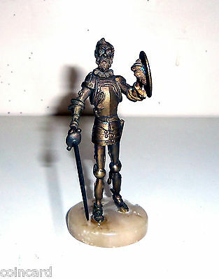 Vintage Bronze Knight Statue, Jointed                       LD-0141