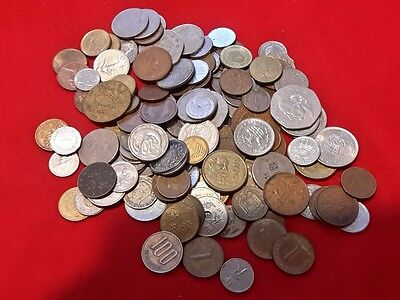 International Lot Collection of COINS 1.7 LBS OF COINS Europe Middle East Africa