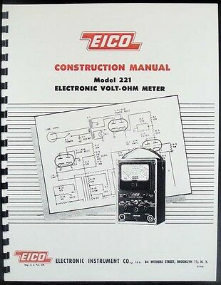 EICO 221 Electronic Volt-Ohm Meter Construction Manual
