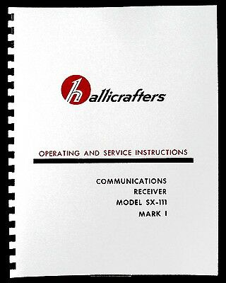 Hallicrafters SX-111 SX111 MK1 Receiver Manual Ham Radio