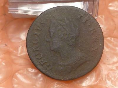 1746 George II Colonial  Farthing Has Detail Clear Date #3