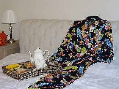 NEW Ralph Lauren Paisley/Floral Cotton Women's/Ladies Pyjamas Set Top/Pants, M