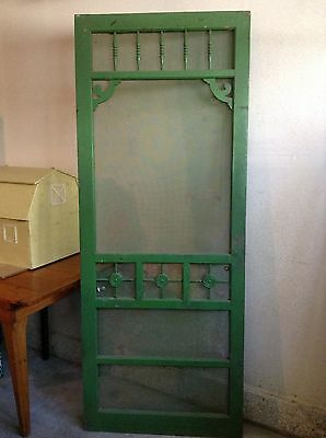 Antique Wood Screen Doors Architectural Salvage Vintage Farmhouse Pantry Kitchen