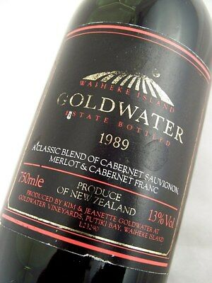 1989 GOLDWATER Estate Cabernet Merlot Isle of Wine