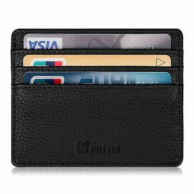Credit Card Holder Case - [RFID Blocking] Leather Ultra Slim Wallet Sleeve
