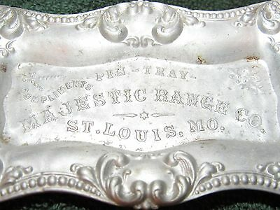 Early 1900's Majestic Range Co. St.louis,mo. Aluminum Advertising Pin Tray