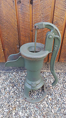 INTERESTING OLD Cast Iron Hand WATER PUMP in GREEN Finish McDOUGALL GALT No 6
