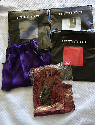 Intimo Men's Silk Multi-Color  Boxers Size S,m, L, Nwt