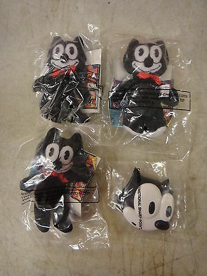 4 Felix the Cat Wendy's Happy meal toys