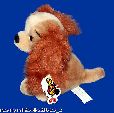 """Lady & The Tramp~ Lady Disney Mouseketoys 8"""" Big Plush Puppy Dog Collectible"""