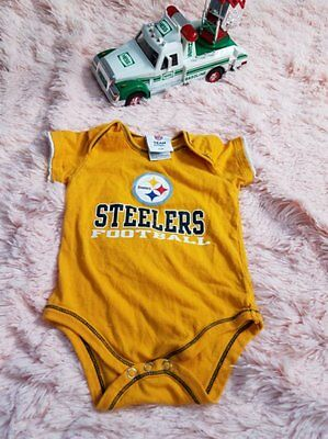 Steelers Baby Boy Size 6/9 Months Yellow one piece