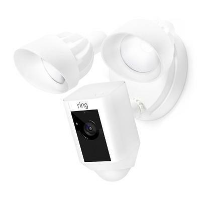 Ring Outdoor Wi-Fi Cam w/ Motion Activated Floodlight White Home Security Camera