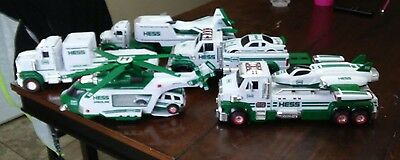 lot of 5 HESS toy trucks tractors helicopters airplanes