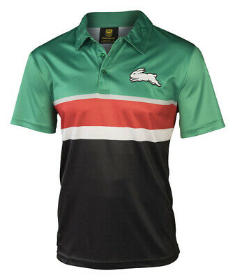 South Sydney Rabbitohs NRL Classic Winter Polyester Polo Shirt Size S-5XL! W7