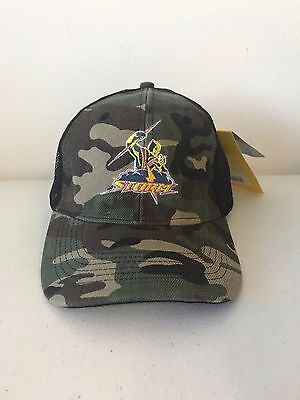 Melbourne Storm NRL 2017 Classic Adult Camouflage Camo Trucker Cap!