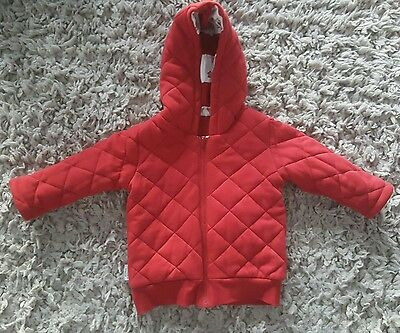 SOOKIBaby Boys Reversible Red Owl Padded Jacket - size 2