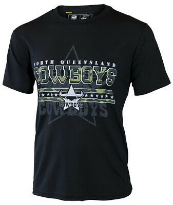 North QLD Cowboys NRL 2017 Classic Camouflage Camo T Shirt Adult & Kids Sizes!