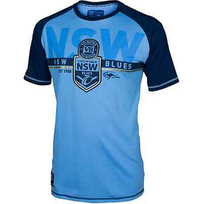 New South Wales Blues 2016 State Of Origin Sky Supporters T Shirt Size S-5XL!