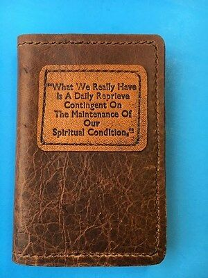 Alcoholics Anonymous Leather *Soft Cover, Pocket edition* of BB - slip-on cover