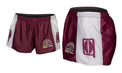 Queensland Maroons State Of Origin 2018 Classic Hero Footy Shorts Size S-4XL!