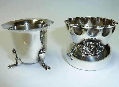 Two Small Silver Drinking Cups - One Silver & One Unknown