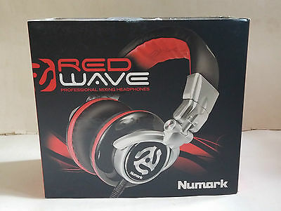 Numark Red Wave DJ Professional Mixing Headphones with Carry Case & Adapter