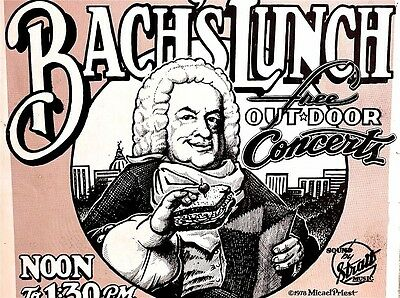 BACH OUTDOOR CONCERTS - AUSTIN 1978 Original by MICHAEL PRIEST RARE