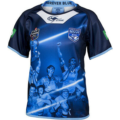 New South Wales NSW Blues State Of Origin True Blue Captains Kids Jersey Size! 6