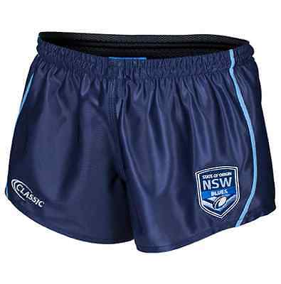 New South Wales Blues State Of Origin Supporter Footy Shorts Size S-4XL!