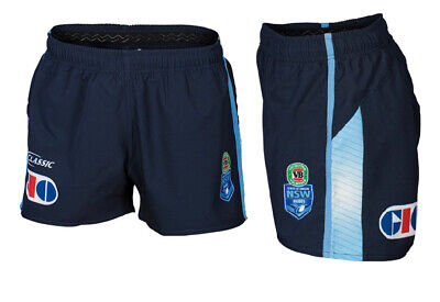 New South Wales Blues State Of Origin 2017 Players On Field Shorts Size S-4XL!
