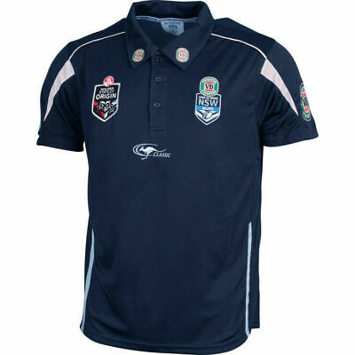 New South Wales Blues State Of Origin Navy Team Polo Shirt Size Small ONLY! 5