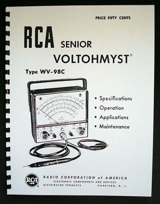 RCA Senior Voltohmyst WV-98C manual WV98C