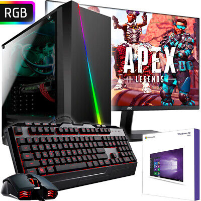 AMD PC Komplett-Set AMD Ryzen 2200G 4x3,7 GHz - AMD Radeon VEGA 8 - Gaming Turbo