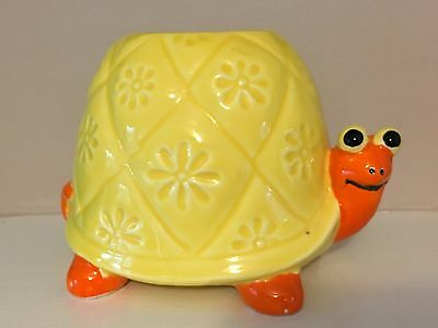 Vintage Turtle Vase Pencil Holder OMC Japan Ceramic Retro 70's Mod ADORABLE